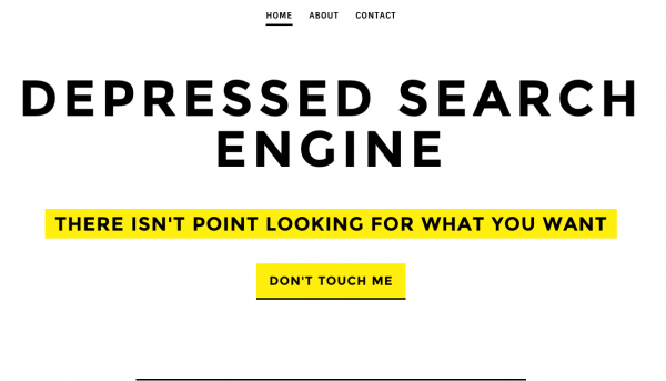 Depressed Search Engine