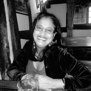 black and white photo of the writer