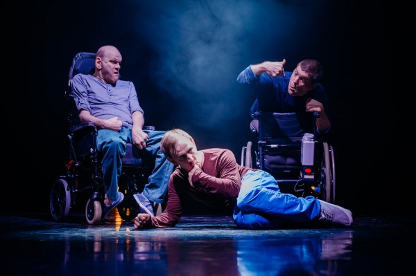 Purposeless Movements with pictured left to right: Pete Edwards, Colin Young and Laurence Clark. Photo © Mihaela Bodlovic