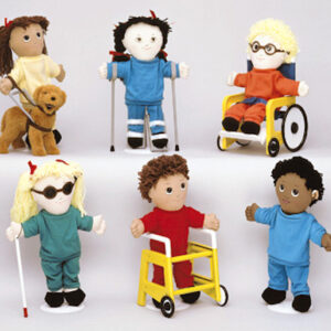 image of a series of dolls with impairments