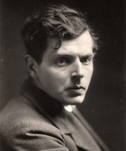 Black and white portrait photograph of composer Ivor Gurney.