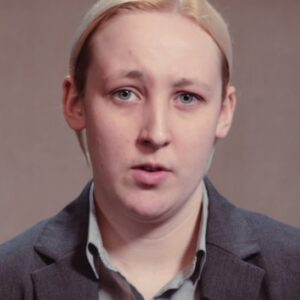 "Image of Mhairi Black, extracted from the SNP video ""GE15 Candidate: Mhairi Black for Paisley and Renfrewshire South"" on YouTube."
