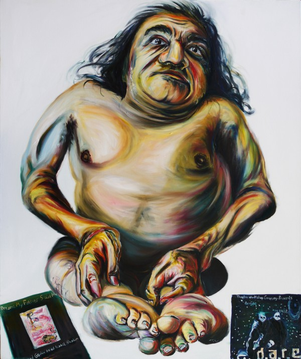 painting of the actor / activist Nabil Shaban