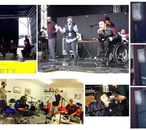 Sonic Vistas rehearsing at Drake Music then performing ay Liberty Festival London 2015