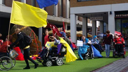 The performance ensemble in Princesshay Shopping Centre, 21st September 2015