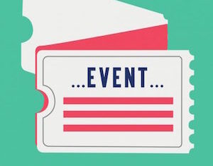 A vector based image showing an event ticket