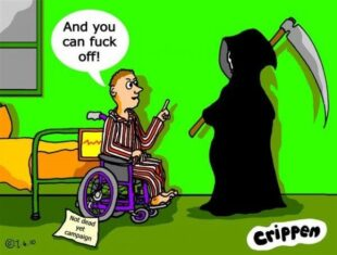 Cartoon by Crippen, entitled Grim Reaper