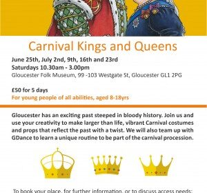 Flyer for Carnival Kings and Queens