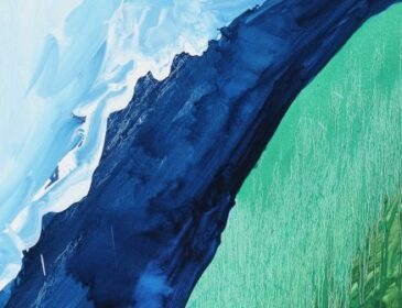 Mary Heilmann, Crashing Wave, 2011 (detail), Oil on canvas,
