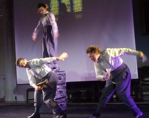 Antony Snowden, Shane Dennis Pearson and Hearns Sebuado of Deaf Men Dancing.