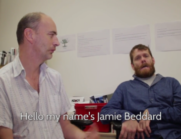 Matthew Hellet and Jamie BEddard in conversation