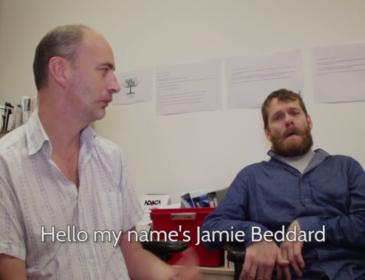 Matthew Hellet and Jamie BEddard in conversation