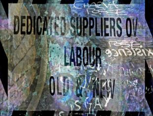 digital artowork by sean burn featuring the words 'dedicated suppliers of Labour old and new'