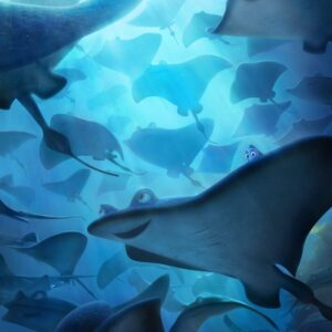 Still of cartoon Mantaray fish