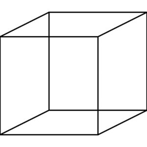 Line drawing of a cube