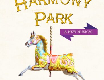 image of a rocking horse with the title Harmony Park - a new musical