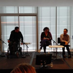 Photograph of a panel discussion