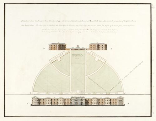 Print of architectural plans for Bedlam