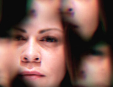 iamge of a woman's face in a kaleidoscope