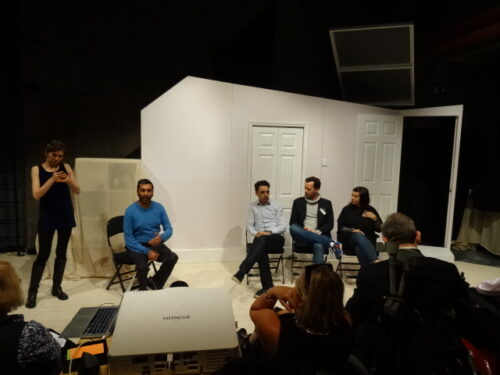 Panel discussion including Amit Sharma, Kerry Michael, Jez Bond, Vicky Featherstone