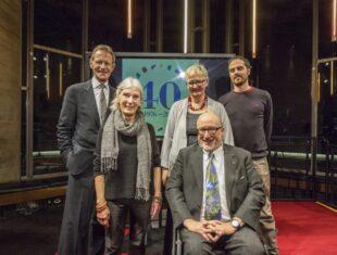 Sir Nicholas Serota, Gina Levete MBE, Pauline Tambling CBE, Tony Heaton OBE, Oliver Macdonald, 2017 ARMB recipient.