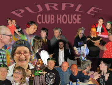 Purple Clubhouse collage