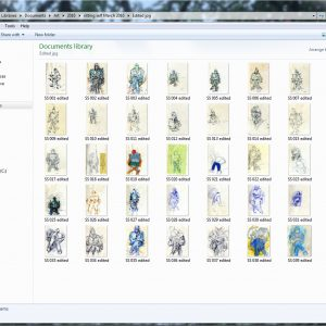 screenshot showing 39 thumbnail images of drawings