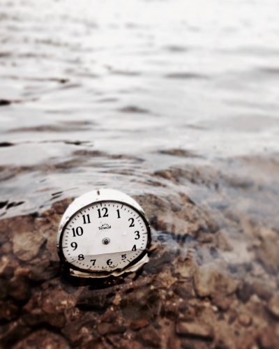 Jane McCormick Scenic Views, clock in water
