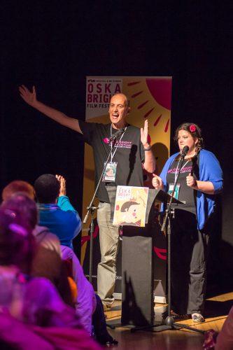 Matthew Hellett and Becky Bruzas at Oska Bright 2015