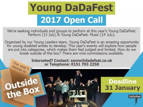 Young DaDaFest open call flyer