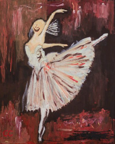 Colin Cameron mortrait in style of Degas