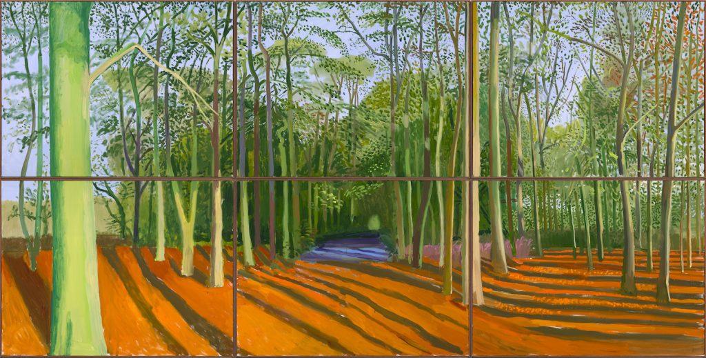 autumn paintings famous artists: David Hockney, Woldgate Woods, 6 & 9 November 2006