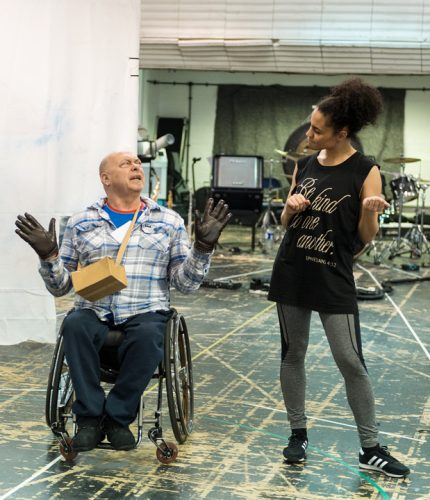 Photo of Garry Robson and Natasha Julien in rehearsal
