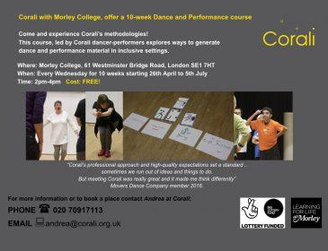 Morley College flyer