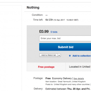 Selling You Nothing on Ebay by Dolly Sen