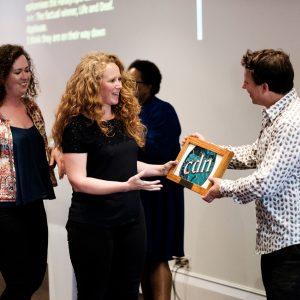 CTVC collecting award