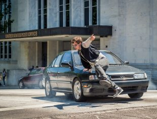 Baby Driver, cop chase scene