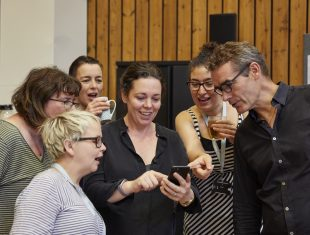National Theatre's production, Mosquitoes Rehearsal image