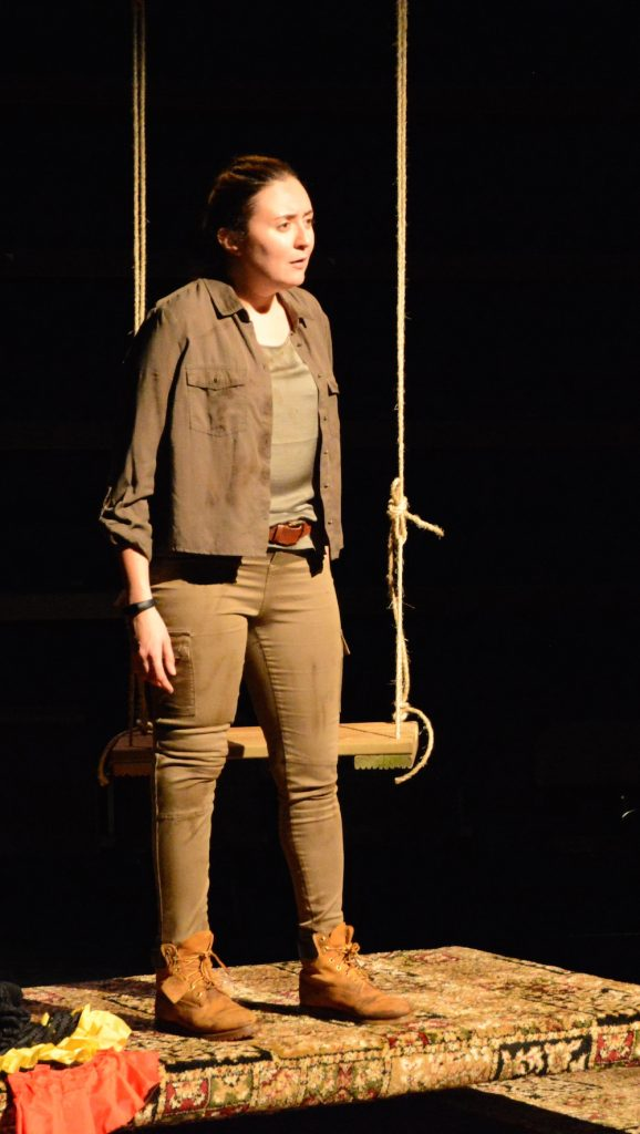 Actress Philippa Cole pictured on stage at ARC Stockton