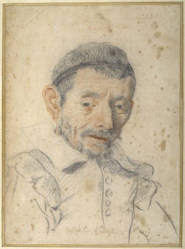 Portrait drawing of a man wearing a hat