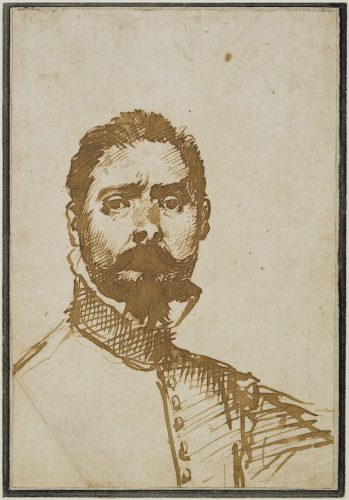 Drawing of a young man in uniform