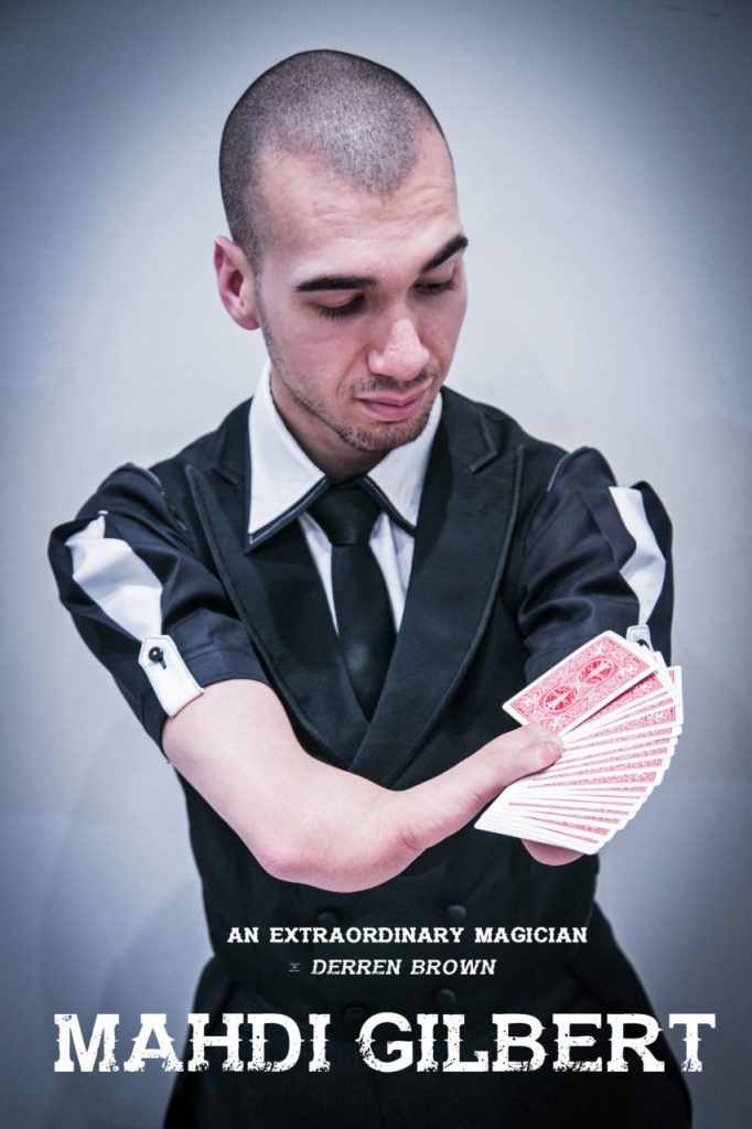 Flyer for a young male magician performing a card trick