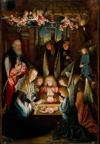 Follower of Jan Joest of Kalkar, The Adoration of the Christ Child