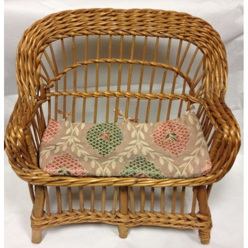 Wicker doll's sofa
