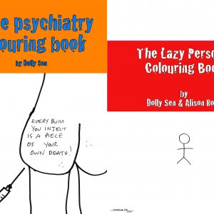 Two subversive colouring books by Dolly Sen