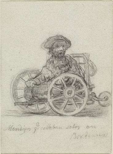 Goya drawing of a wheelchair user
