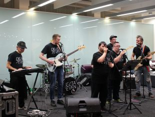 Delta 7 perform at Oxford Brookes