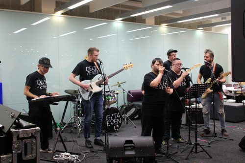 Delta 7 perform at Oxford Brookes