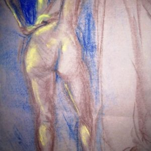 Life drawing in pastels