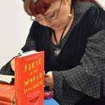 Penny Pepper signing books
